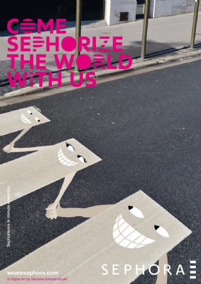 Sephorize the world with us - Sandrine Estrade Boulet pour l'agence Havas