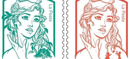La marianne se refait une beauté sur les timbres postaux français !