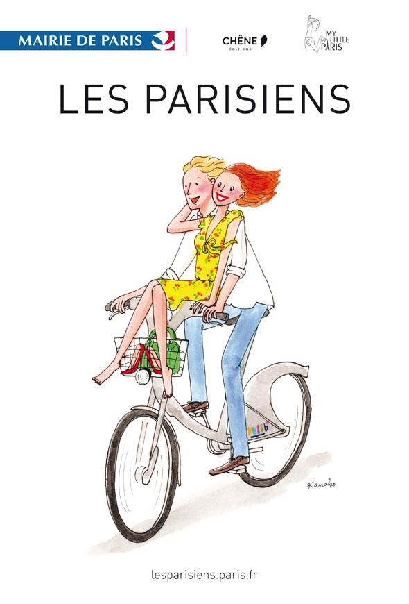 """Affiche de l'exposition """"Les Parisiens"""" de Kanako"""