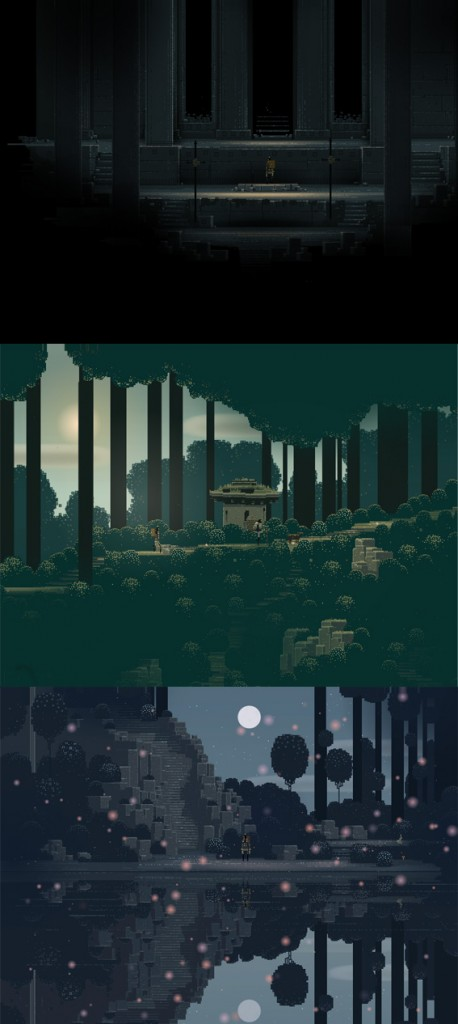Copies d'écran du jeu Sword And Sworcery - pixel art