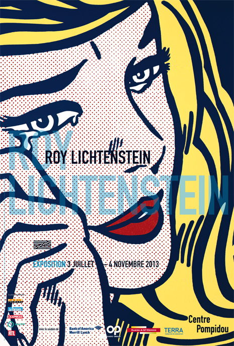 Affiche de l'exposition Roy Lichtenstein au Centre Pompidou