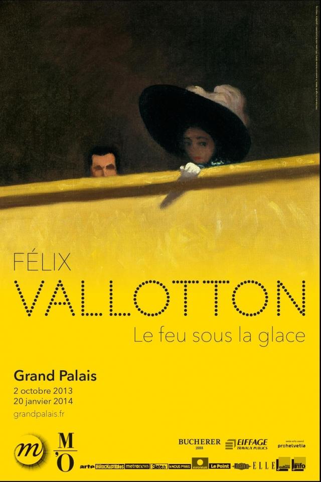 Affiche de l'exposition Felix Vallotton, le feu sous la glace au Grand Palais