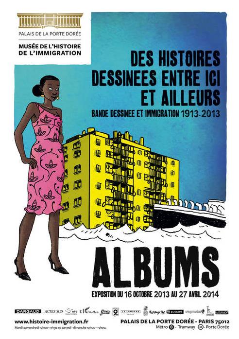 Affiche de l'exposition ALBUM au musée de l'histoire de l'immigration