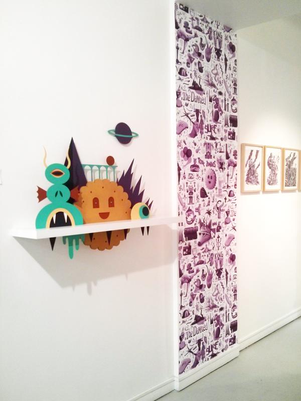 Vue d'une partie de l'exposition - galerie Issue Sergent Paper