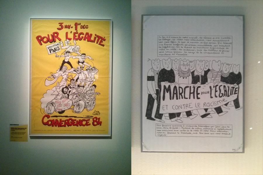 La Marche, traitée par Farid Boudjellal (à gauche) et Jérome Ruillier (à droite).