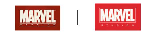 Ancien / Nouveau logo Marvel
