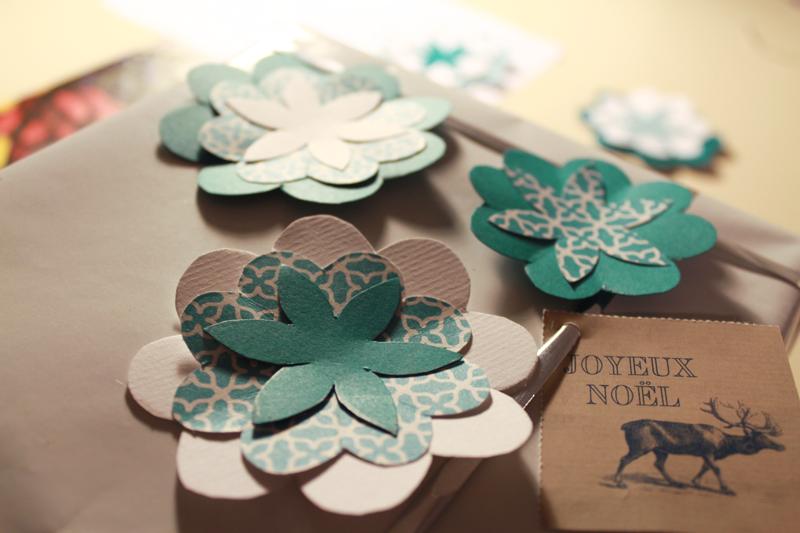Résultat du DIY papier cadeau personnalisé - photo © La Veilleuse Graphique