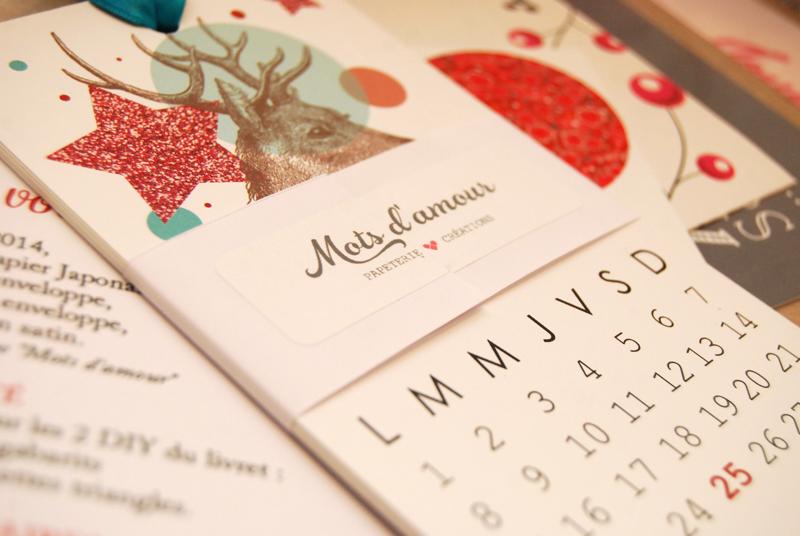 Calendrier et stickers contenus dans la Lovely Box - photo © La Veilleuse Graphique