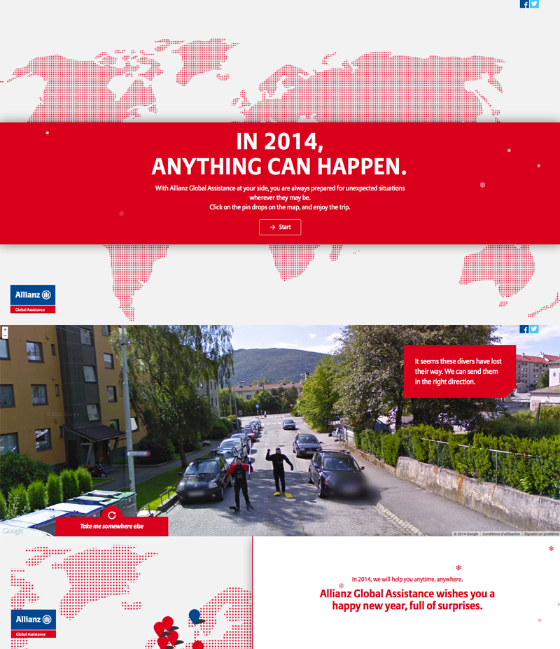 "Carte de voeux 2014 Allianz ""Anything can happen"""