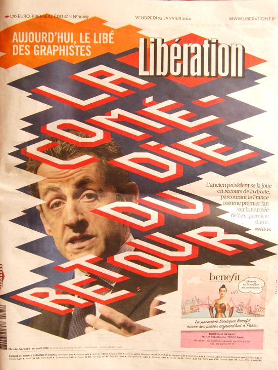 Le Libé des graphistes - édition du 25 janvier 2014 - couverture  par Eric Feferberg et Laurianne Folinais