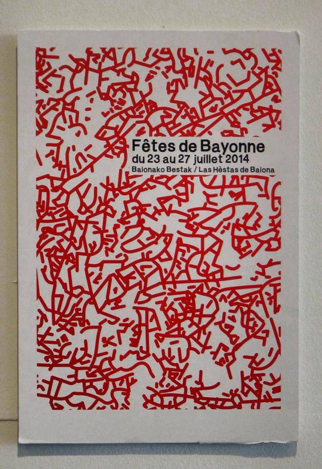 Affiche des fêtes de Bayonne 2014 par