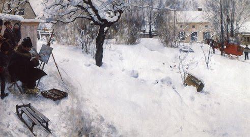 Autoportrait au chevalet, Carl Larsson