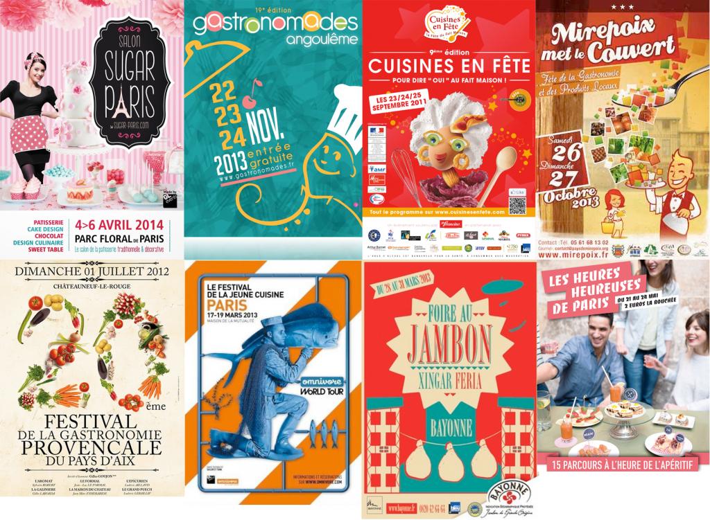 mosaïque d'affiches culinaires 2013