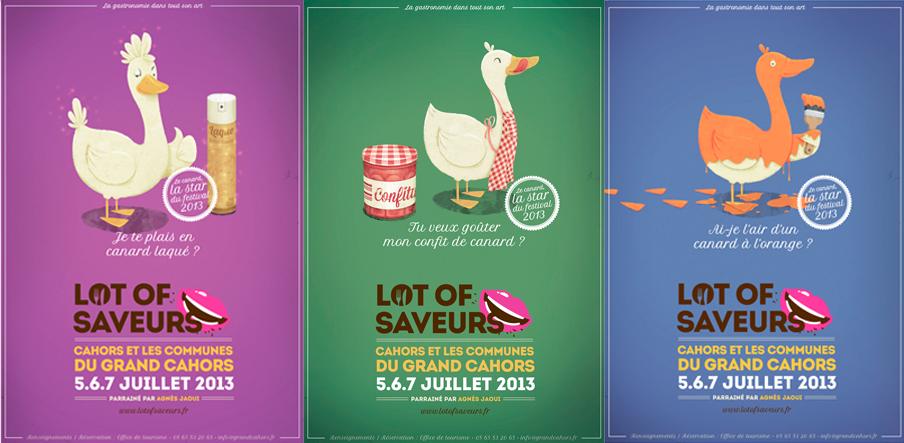 Trio d'affiches 2013 Lot Of Saveurs - © Pan Pan