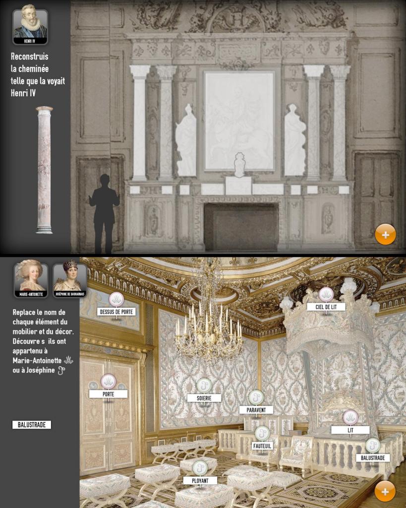 Serious Game du château de Fontainebleau adapté aux enfants/ados