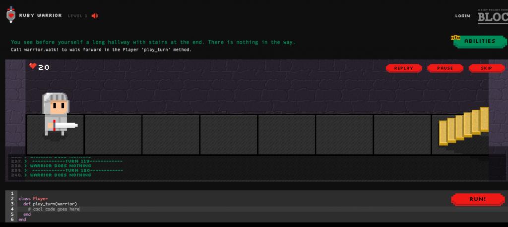 Sérious Game Ruby Warrior : pour apprendre à coder le Ruby