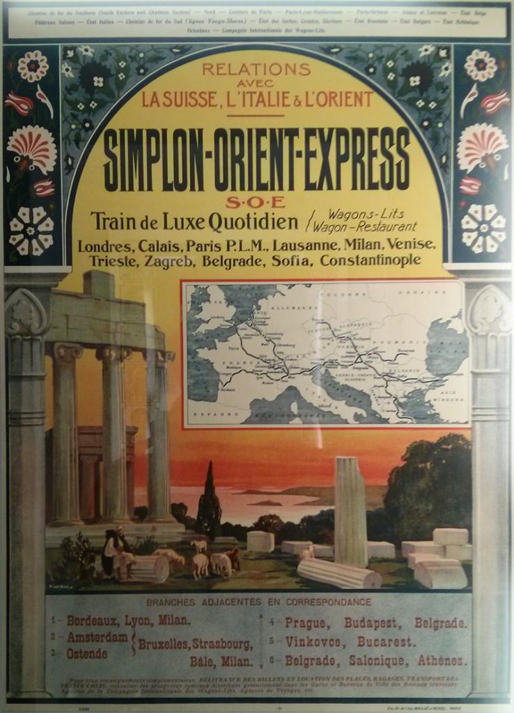 Affiche pour l'Orient Express - exposition IMA