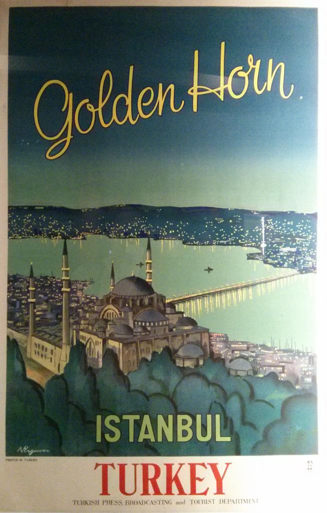 Affiche promotionnelle pour l'Orient Express - exposition IMA