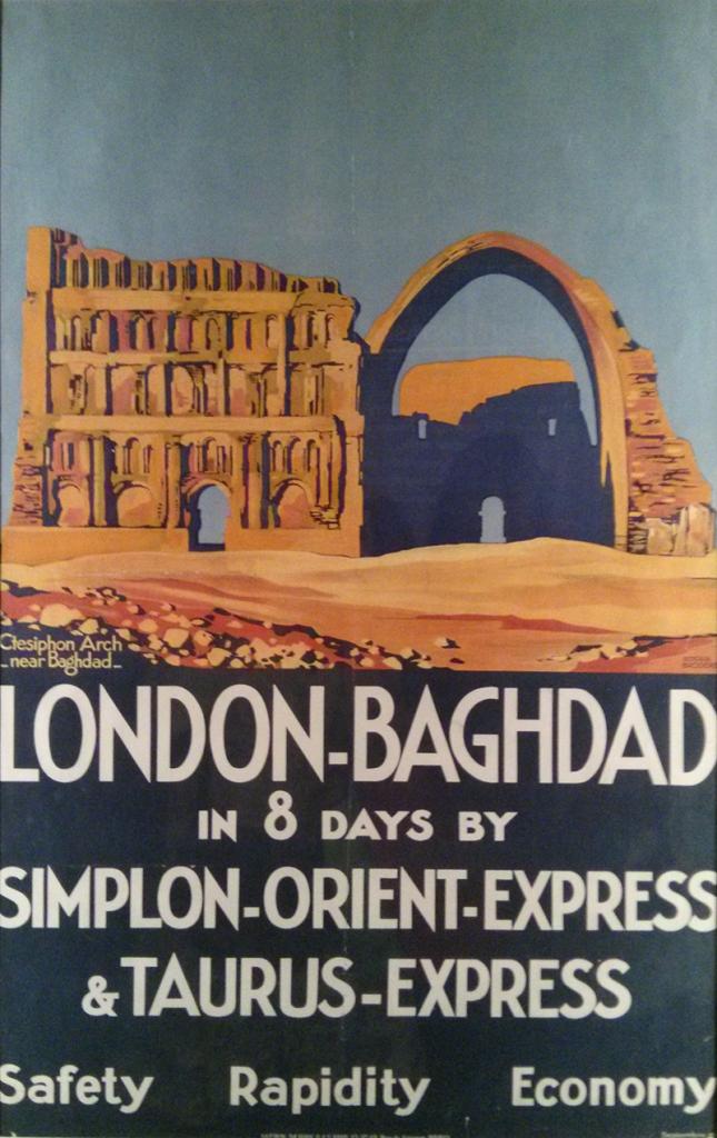 Affiche London-Bagdad pour L'Orient Express - exposition IMA