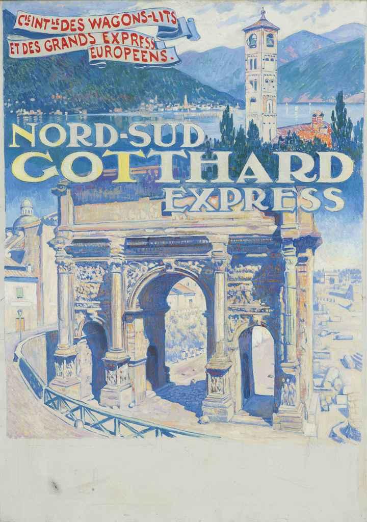 Affiche de Théo Van Rysselberghe pour l'Orient Express-  exposition IMA