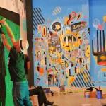 Aperçu des fresques en cours de réalisation - © Mairie de Bayonne