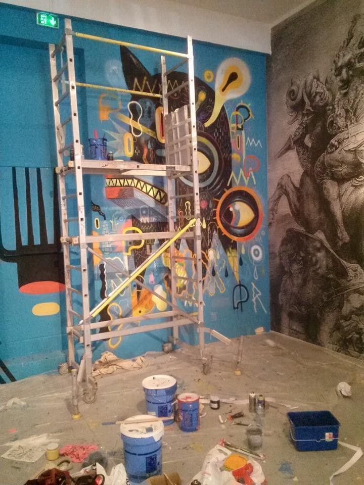 fresque en cours de réalisation -  © Niark