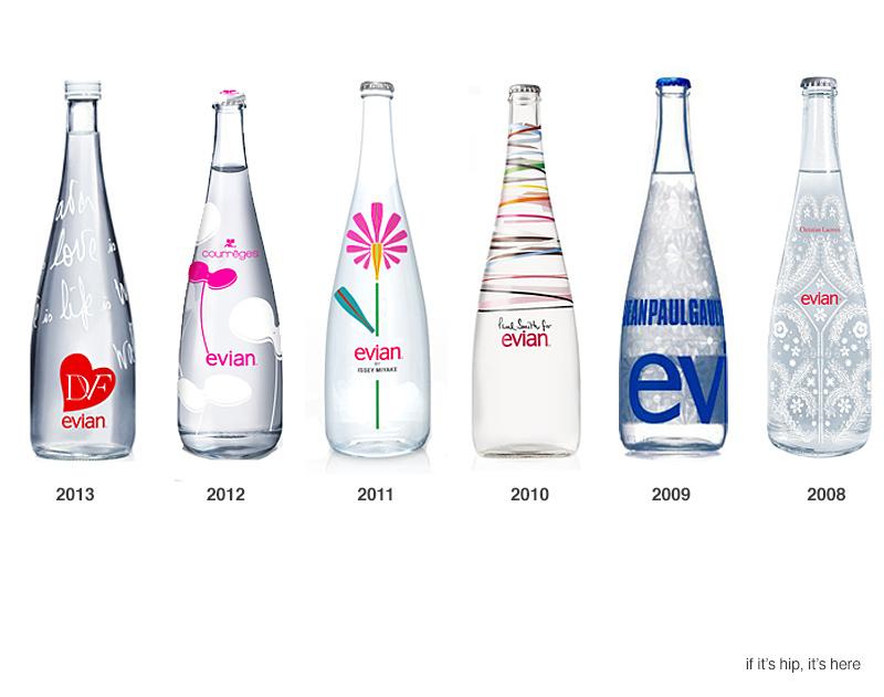 Evian et la tradition graphique du packaging de bouteille - Evian christian lacroix ...