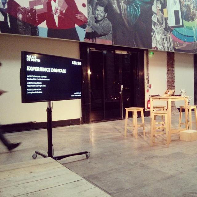 """Scène de la conférence """"l'expérience digitale Canal +"""" au palais de Tokyo"""