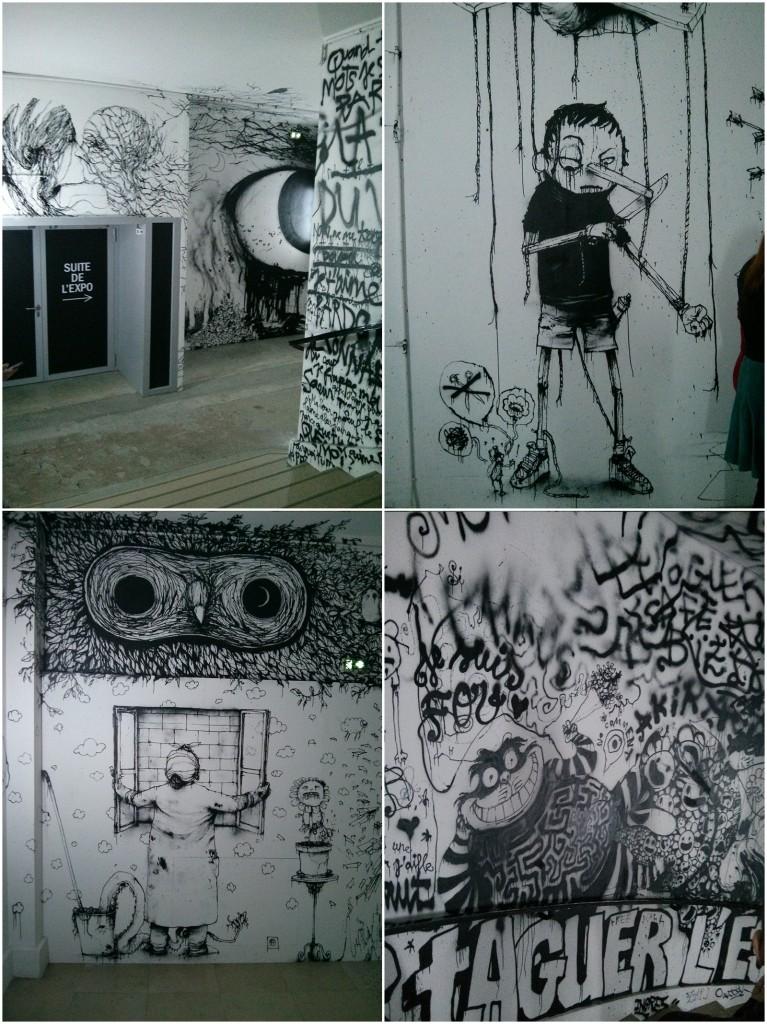 """Fresque """"Attention à ne pas tomber"""" Dran 2014 - Palais de Tokyo"""