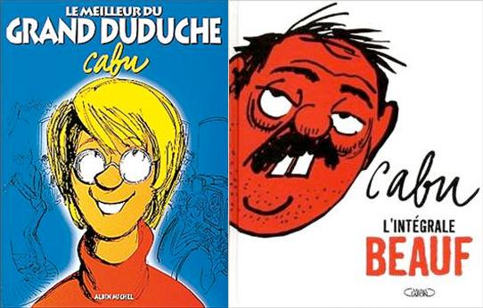 """Albums """"Le meilleur du Grand Duduche"""" et """"Le meilleur du beauf"""" de Cabu"""