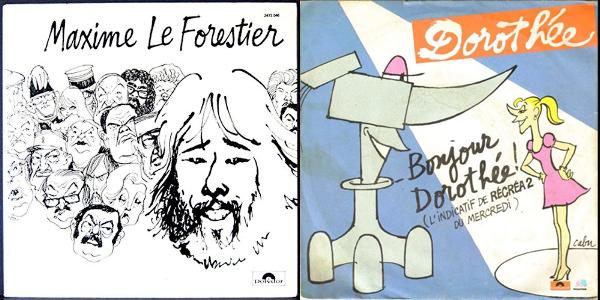 Illustration pour les pochettes d'album de Maxime le Forestier et de Dorothée