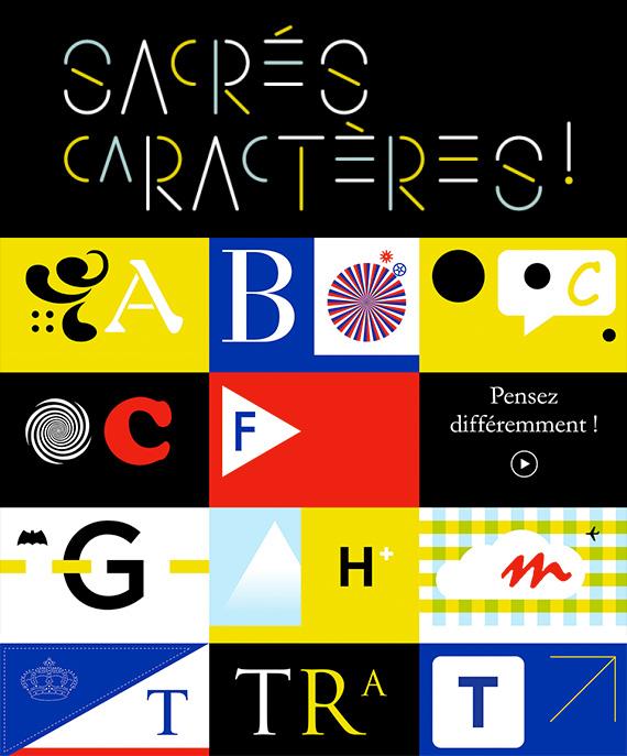 Sacrés caractères - conférence sur la Web série typographique à succès aux Arts Décoratifs