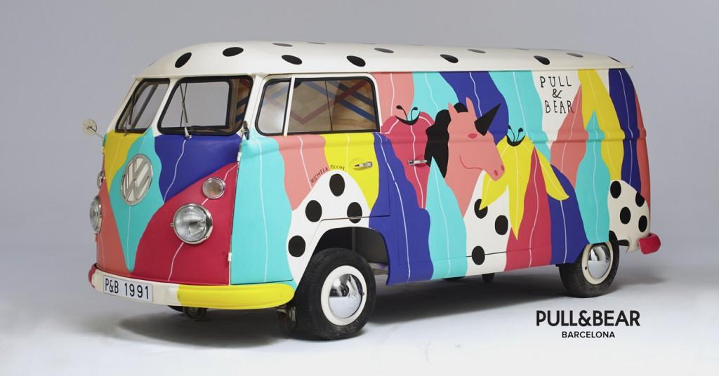 Van peint par Michela Picchy pour Pull&Bear