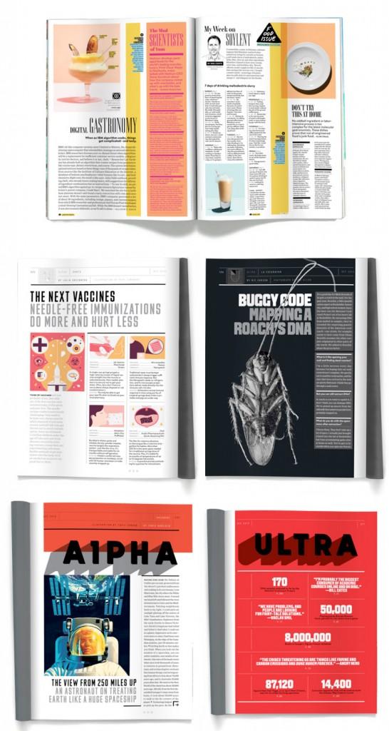 Exemple d'utilisation de la grille conçue par Claudia De Almeida pour The Wired