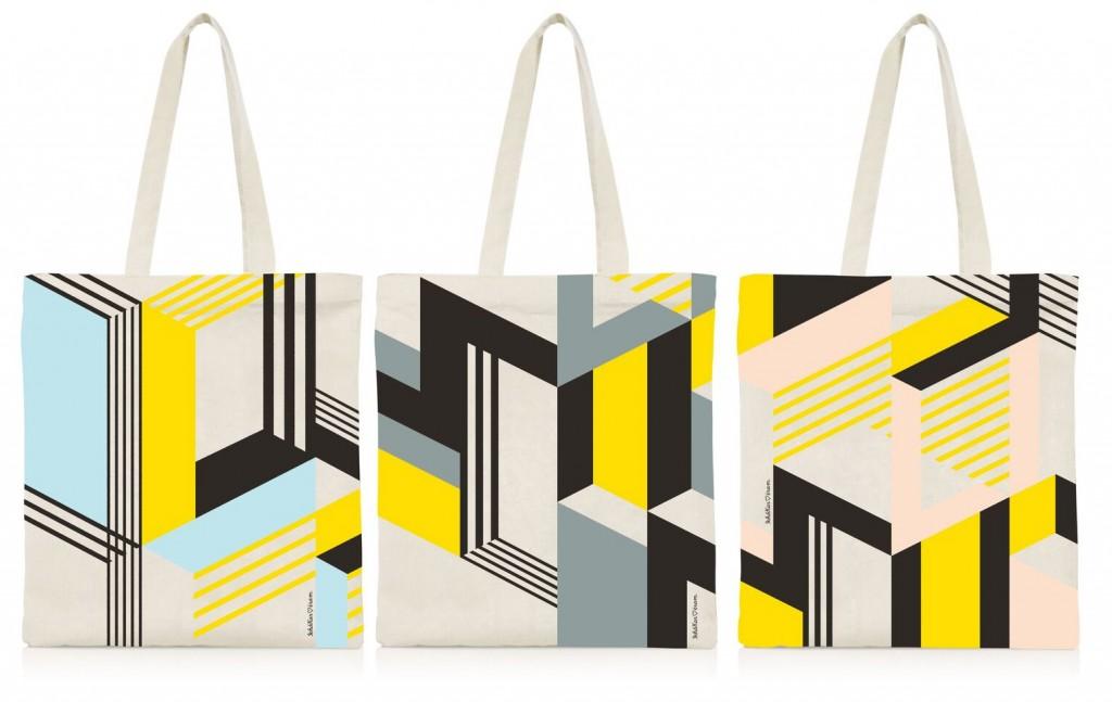 Tote bags* conçus par Ich&Kar pour la marque ERAM