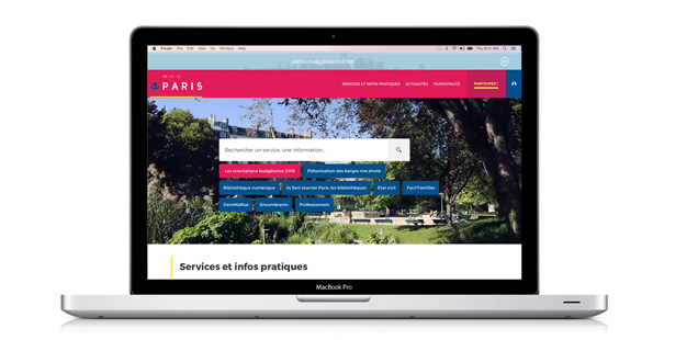 Site web institutionnel : la mairie de Paris montre l'exemple