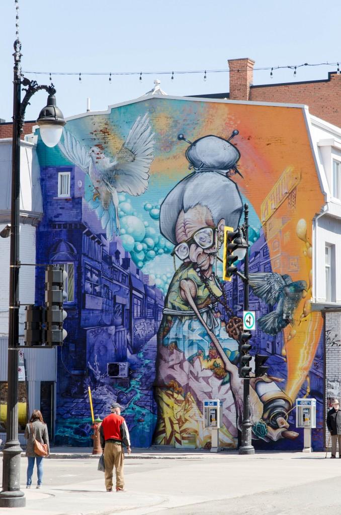 Street art de A'shop à Montréal - Photo © La Veilleuse Graphique
