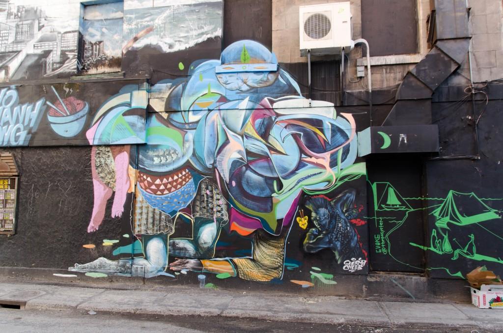 Street-art par ... à Montréal - Photo © La Veilleuse Graphique