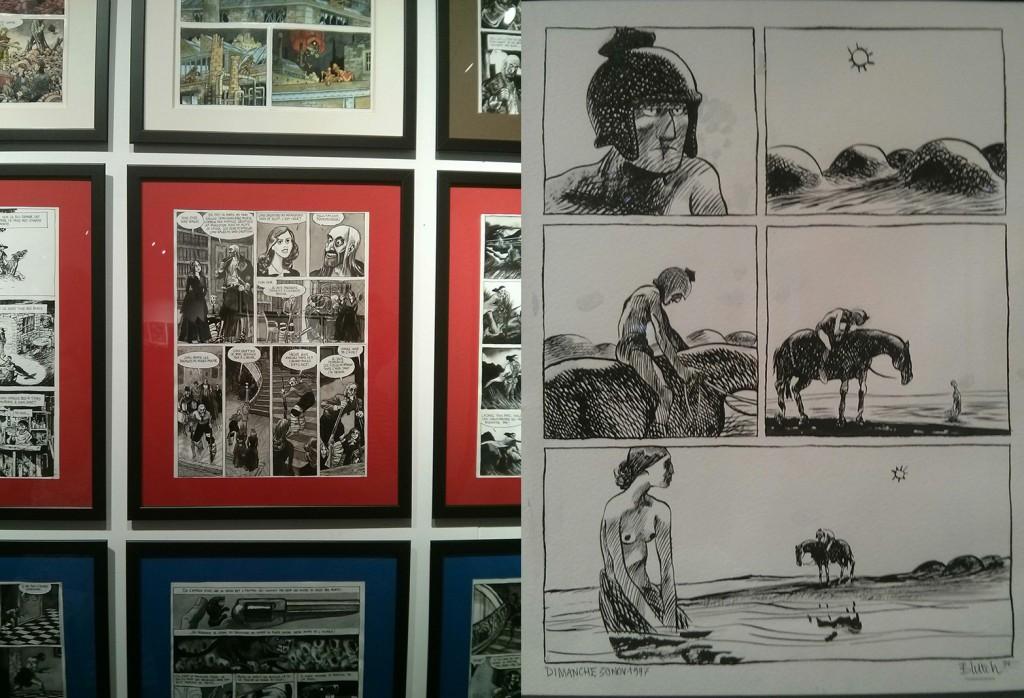 Extrait de planches dessin originales de Blutch exposées à l'espace St Rémi (festival BD regard 9)