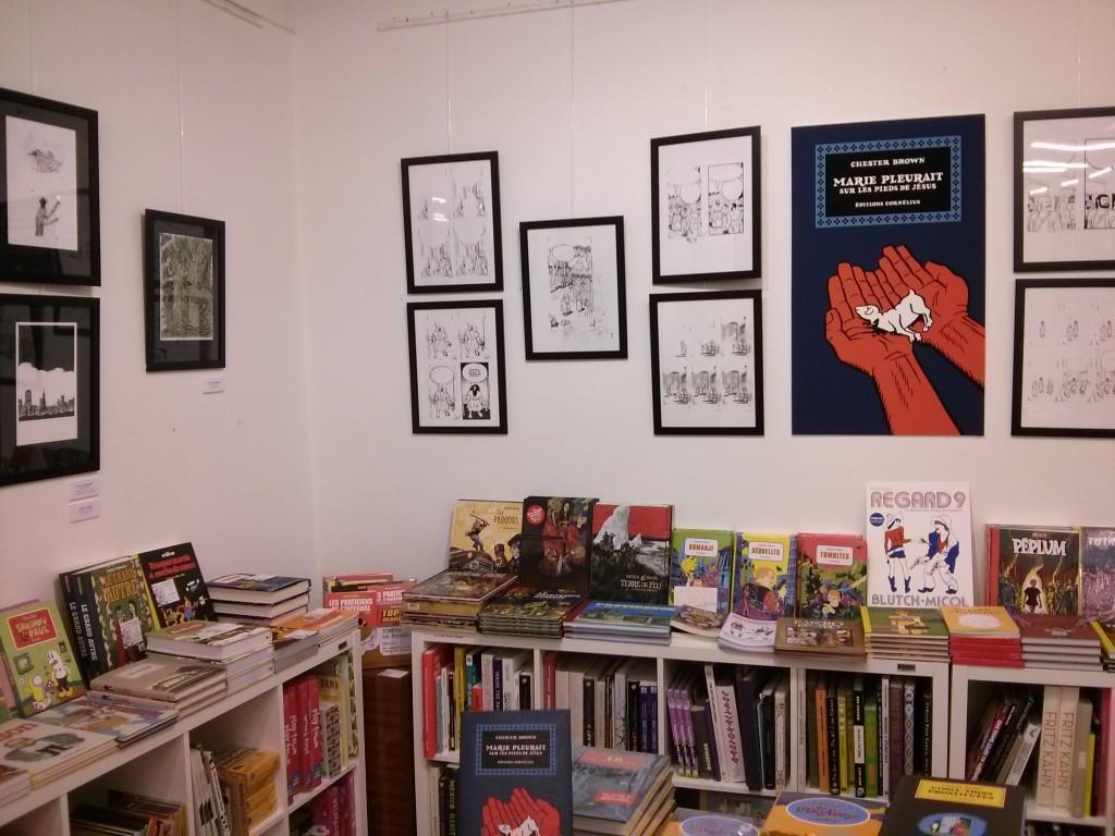 Exposition sur la BD américaine à la librairie Mollat à Bordeaux (festival Regard 9)