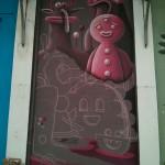 Peinture murale de Nicolas Barromes - Crédit Photo :  © La Veilleuse Graphique