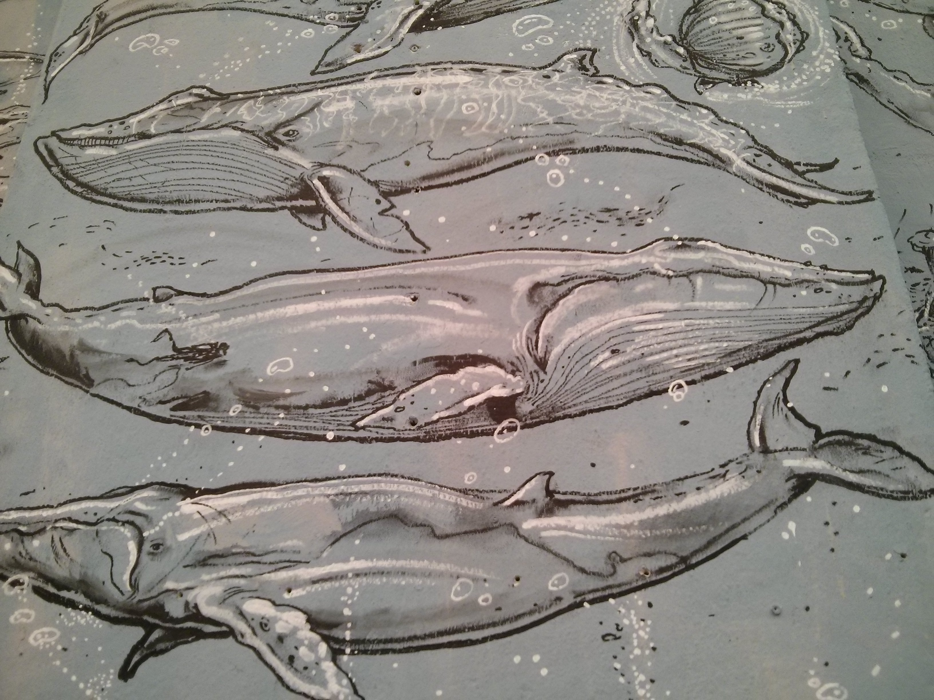 Détail de la fresque d'Oustagram - Crédit Photo : © La Veilleuse Graphique