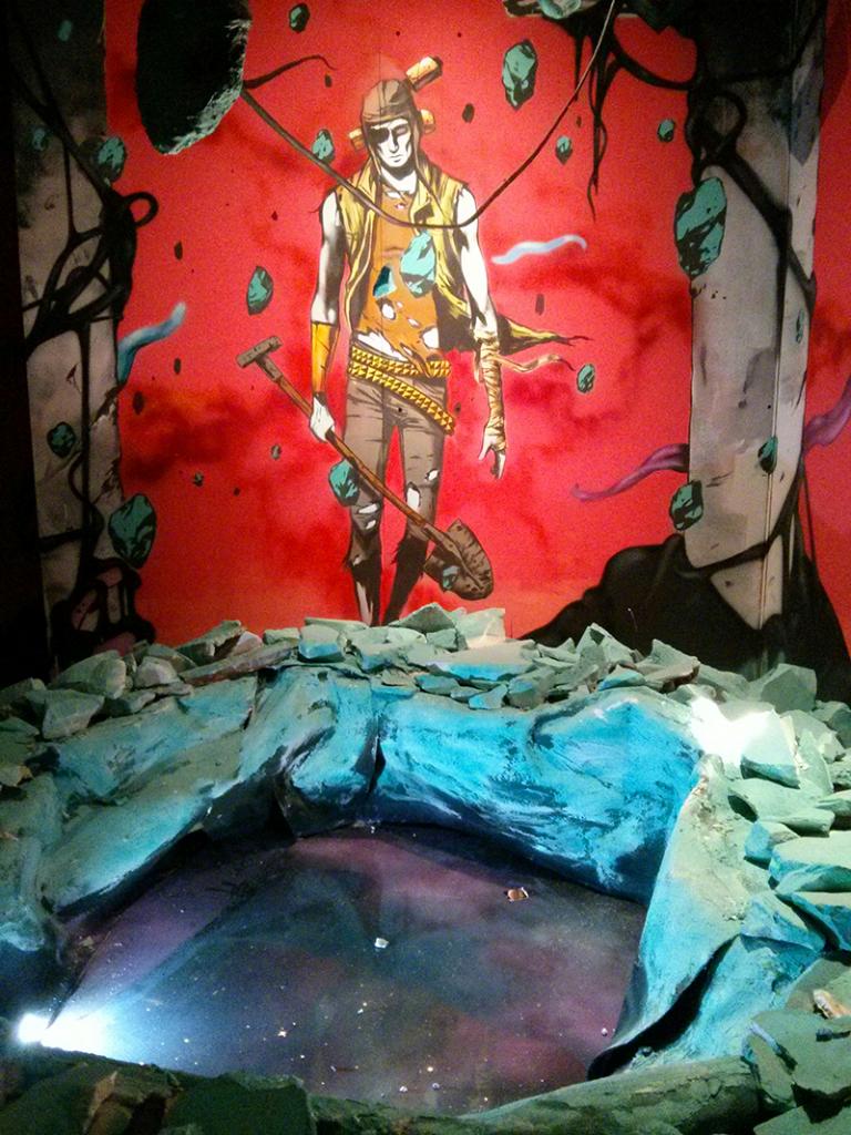 Fresque de Deih pour l'expo street art Transfert #6 - Photo © La Veilleuse Graphique