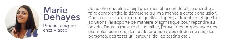 Extrait de l'interview de Marie Dehayes sur la gestion des retours clients