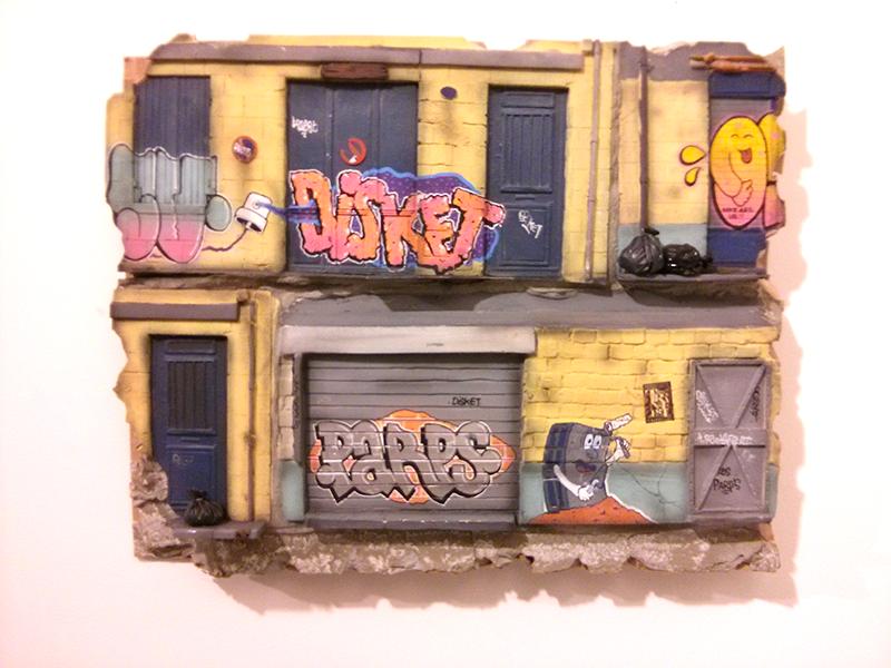 Tableaux de Disketer pour l'expo street art Transfert #6 - Photo © La Veilleuse Graphique