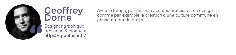 Extrait de l'interview de Geoffrey Dorne sur la gestion des retours clients