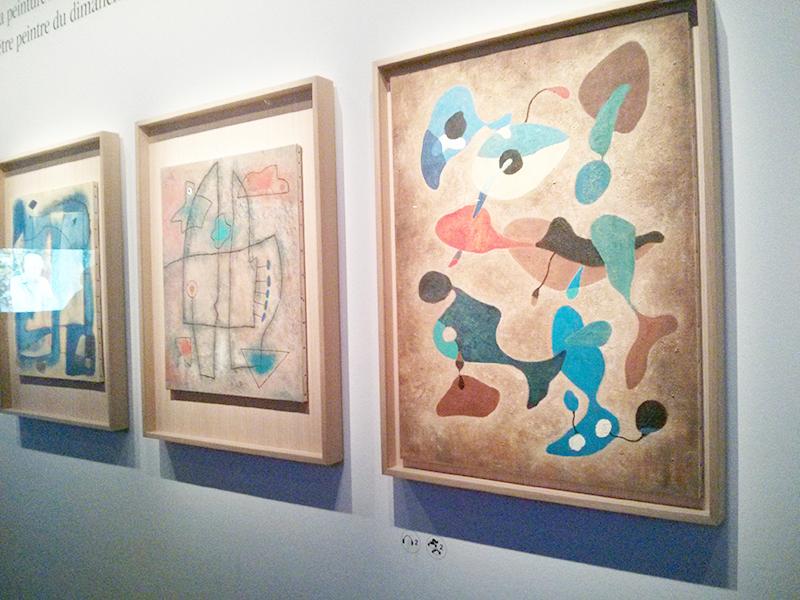 Peintures abstraites d'Hergé exposées au Grand Palais