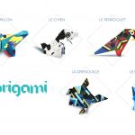 Kdorigami : des papiers cadeaux graphiques à plier chez Cultura
