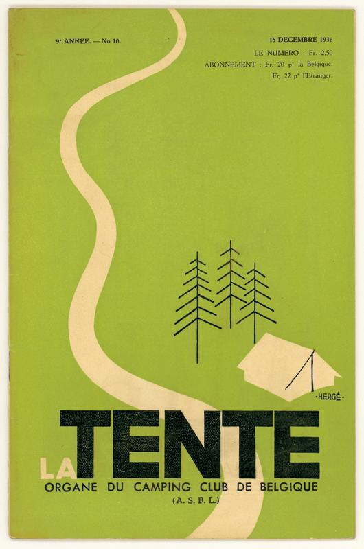 Publicité signée Hergé - exposé au Grand Palais