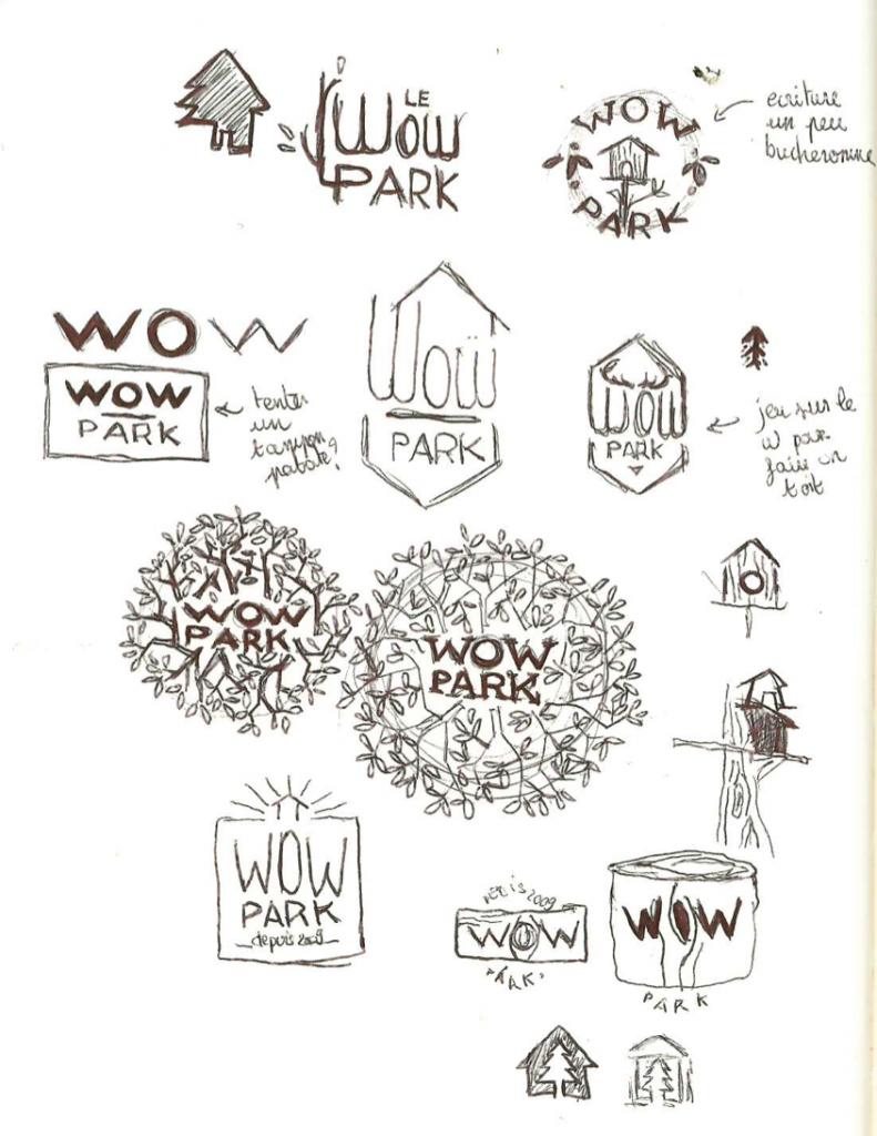 Recherches à la main pour coucher des idées sur papier - © La Veilleuse Graphique